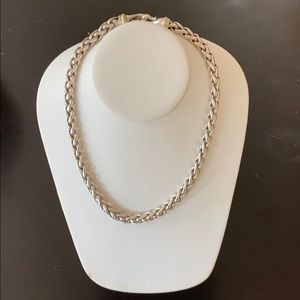 David Yurman 925 & 14k Gold 6mm wheat chain necklc